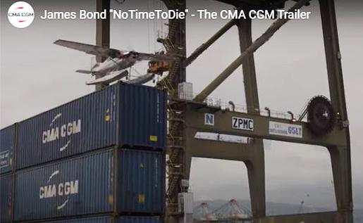 CCIS, CMA CGM Inland Services, CMA CGM James Bond, CMA CGM No time to die, CCIS James Bond,